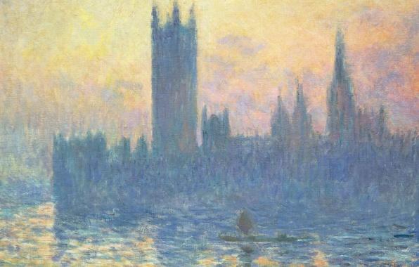 Picture picture, the urban landscape, Claude Monet, Parliament Building In Winter