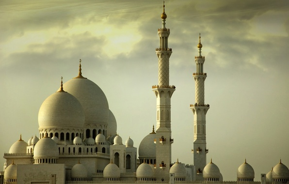 Picture the sky, the building, tower, temple, mosque, arch, faith, dome, prayers