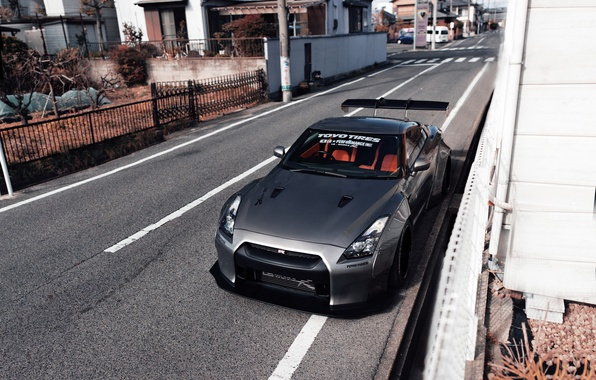 Picture the city, street, tuning, Japan, Nissan, GT-R