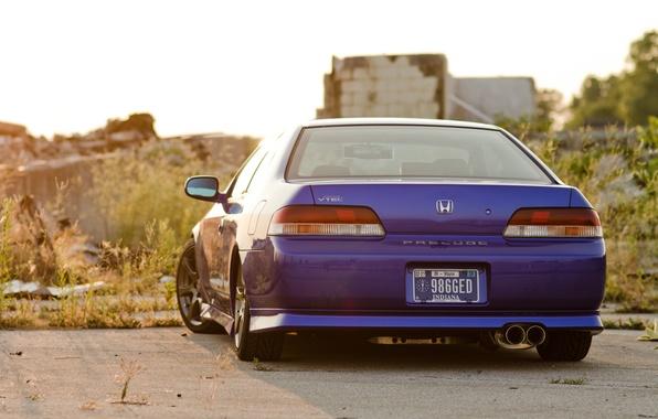Picture honda, blue, Honda, blue, prelude