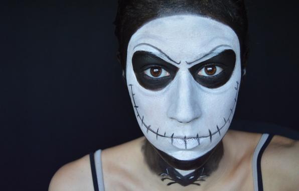 Picture woman, creepy, makeup