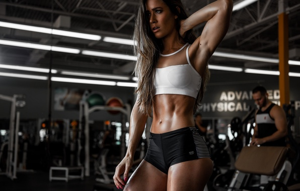 Picture face, model, hair, figure, Valentina, the gym
