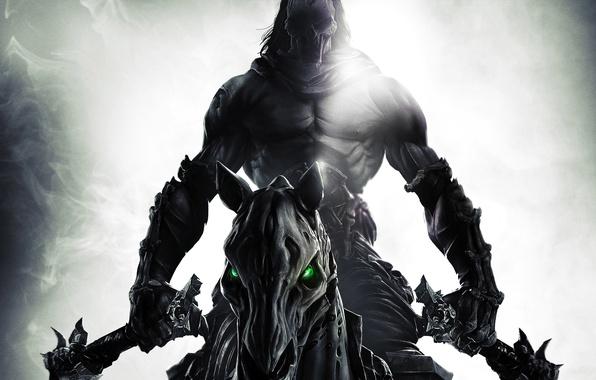 Picture horse, mask, bones, Death, rider, horseman of the Apocalypse, braids, death, Darksiders 2, Darksiders II