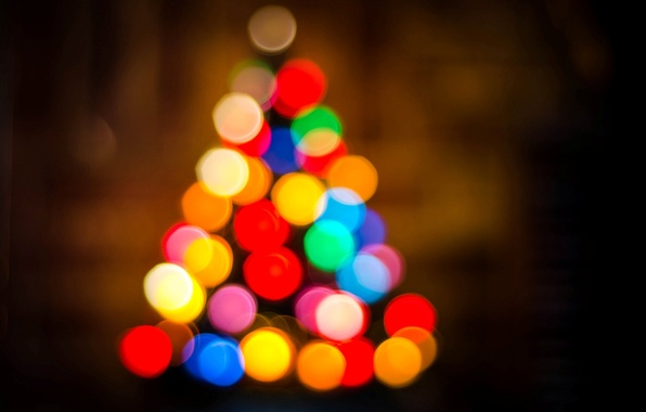 Picture lights, holiday, tree, New Year, Christmas, tree, Christmas, colorful, bokeh, New Year