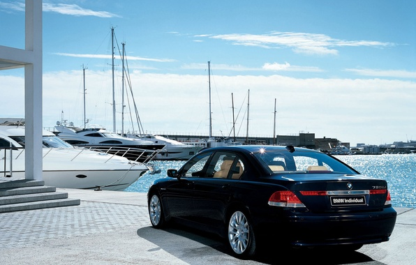 Picture the sky, yachts, BMW