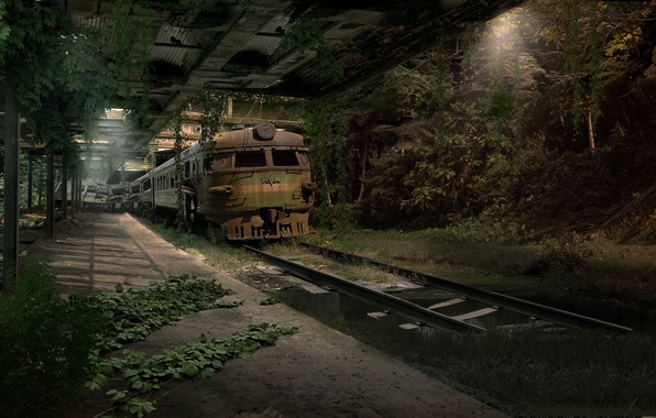 Picture road, metro, Apocalypse, train