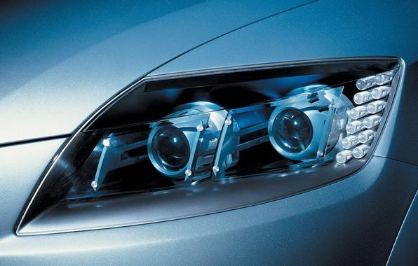 Picture car, auto, light, headlight