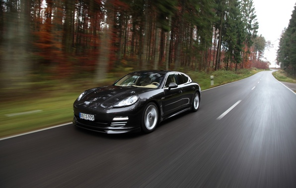 Picture machine, speed, Porsche, Panamera