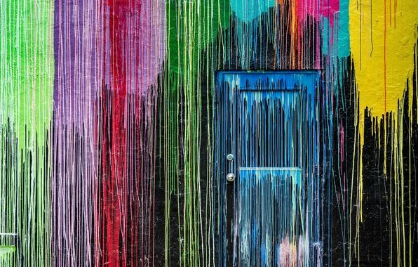 Picture wall, paint, the door