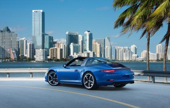 Picture 911, Porsche, Porsche, blue, Targa, Targa 4S