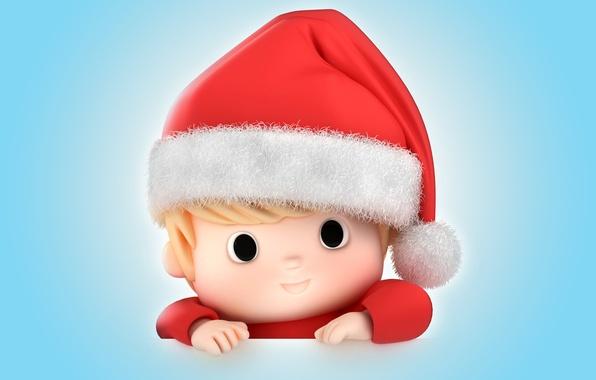 Picture new year, Christmas, baby, christmas, Santa, baby, santa claus, kid, santa