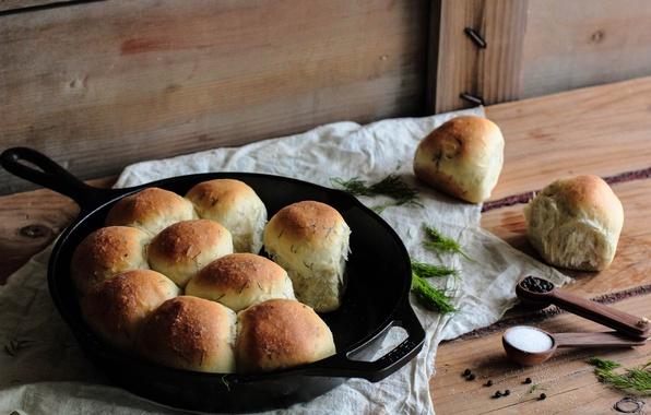 Picture greens, tea, coffee, Breakfast, pepper, cake, cakes, rolls, lunch, sweets, buns, breakfast, tea, salt, pan, …