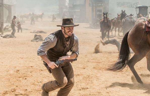 Picture cinema, wallpaper, gun, pistol, weapon, hat, dead, land, dust, movie, death, horse, Colt, Winchester, film, …