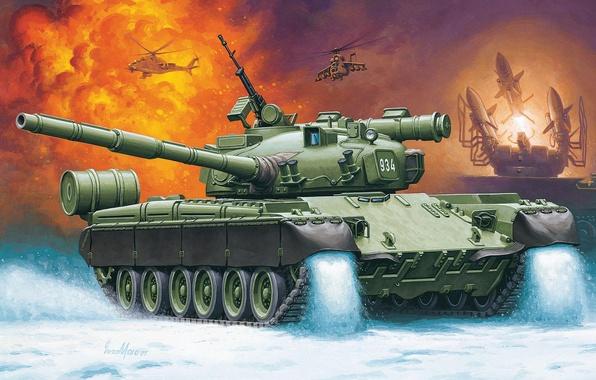 Picture figure, Russia, Enzo Maio, main battle tank, MBT, T-80