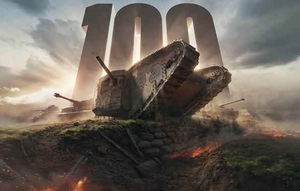 Picture Tanks, WoT, World of Tanks, World Of Tanks, 100, Wargaming Net, Mark 1, Mark 1