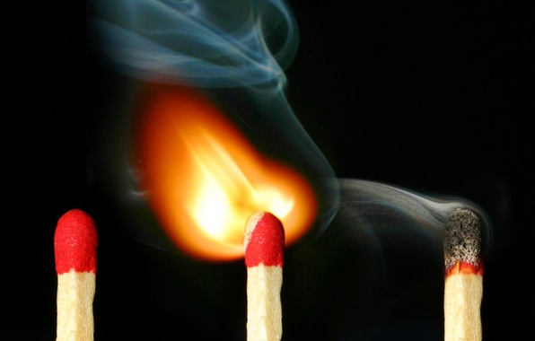 Picture fire, smoke, matches, 157