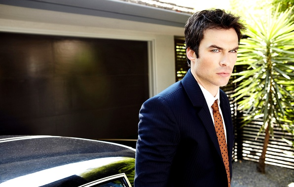 Picture machine, look, face, costume, actor, male, Ian Somerhalder, brunette, Ian Somerhalder