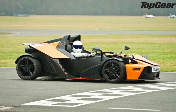Picture Top Gear, supercar, track, KTM, the front, KTM, Stig, The Stig, the best TV show, …