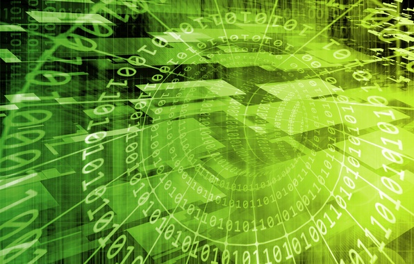 Picture background, technology, code, green, binary