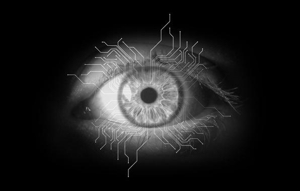 Picture track, minimalism, Eyes