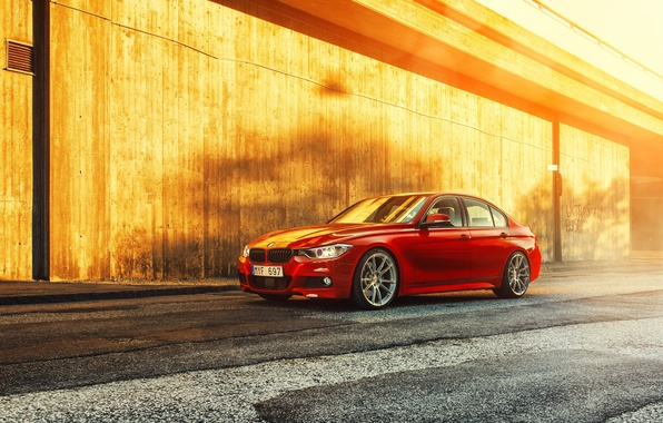 Picture BMW, red, 335i, front, F30, Sedan, 3 Series