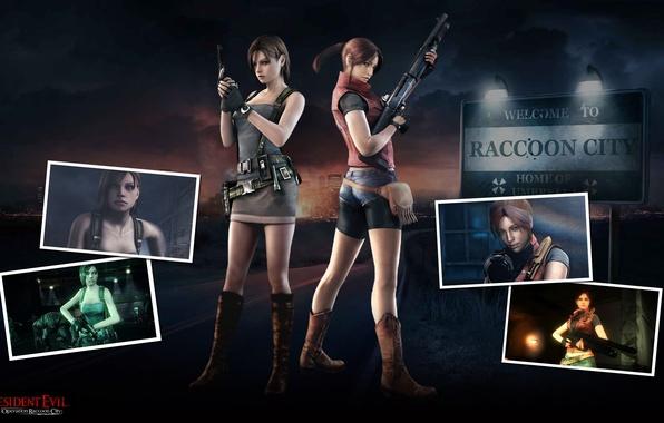 Picture gun, weapons, gun, shotgun, Resident Evil, Biohazard, Resident Evil: Operation Raccoon City, Jill Valentine, Claire …