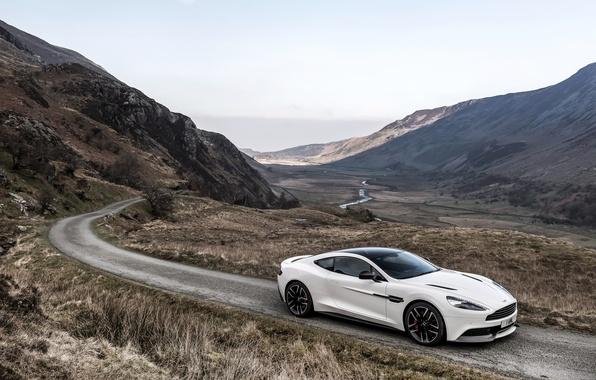 Picture Aston Martin, Aston Martin, UK-spec, Vanquish, vankvish, 2014, Carbon White