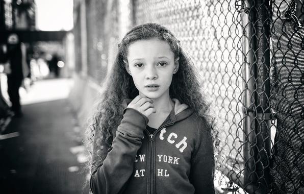 Picture model, girl, curls, Berkeley Clayborne