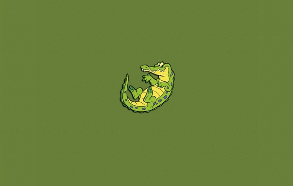 Picture green, minimalism, crocodile, lizard, eyed, alligator, toothy, Crocodile