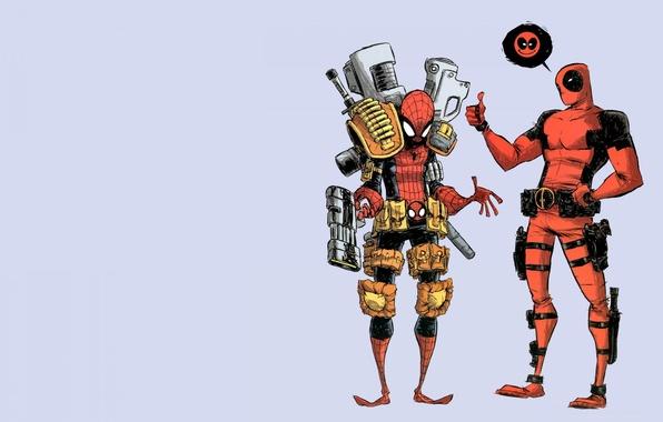 Picture spider-man, marvel, deadpool, superhero, comic, spiderman