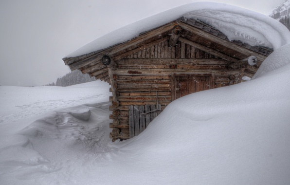 Picture winter, snow, house, the snow, house, snowy