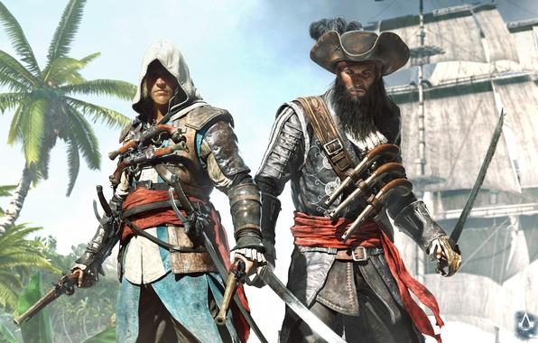 Picture pirate, Captain, Black Flag, assassin, Blackbeard, Edward Kenway, Assassin's Creed IV: Black Flag, Blackbeard, Edward …