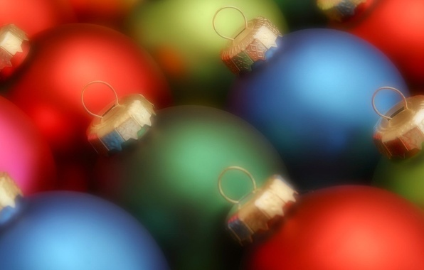 Picture balls, color, New year