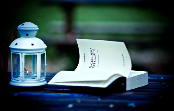 Picture love, candle, lantern, book