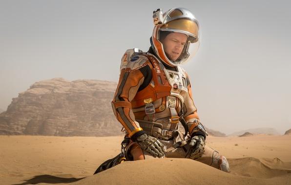 Picture sand, fiction, desert, the suit, costume, Mars, Matt Damon, astronaft, Matt Damon, Martian, The Martian, …