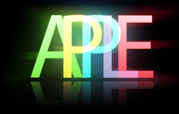 Picture background, black, apple, Apple, minimalism, emblem, brand