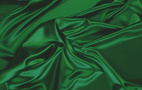 Picture texture, fabric, green, folds, dark