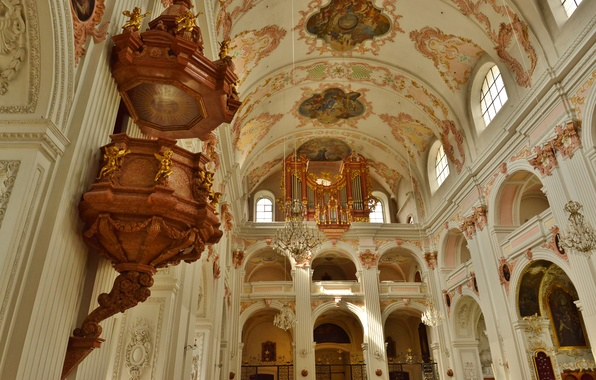 Picture Switzerland, Cathedral, religion, Lucerne, body, the nave