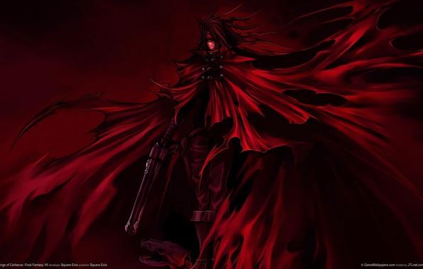 Picture weapons, cloak, Final Fantasy 7, final fantasy, Dirge Of Cerberus, Vincent Valentine