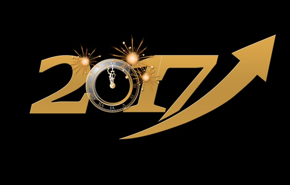 Picture energy, yellow, time, lights, background, holiday, black, graphics, watch, new year, vector, figures, arrow, black …