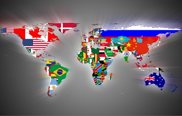 Picture country, map, flags