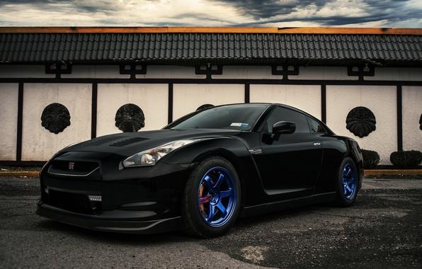 Picture car, black, Nissan, tuning, nissan gt-r, EvoG Photography, Evano Gucciardo