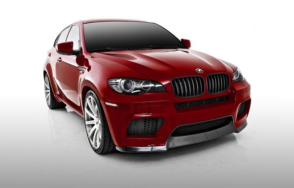 Picture BMW, BMW, white background, Vorsteiner, crossover, X6 M, E71