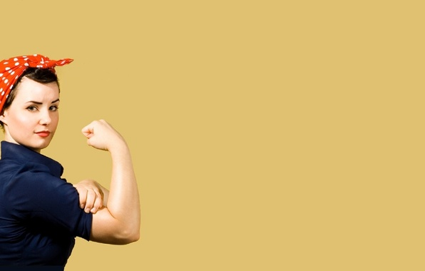 Picture girl, poster, gesture, Cleansize Rosie, rosie the riveter, We can do it!