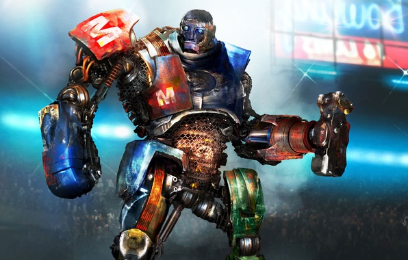 Picture Robot, Fighter, The film, Robot, Real steel, Real Steel, Cyborg, `Metro`, Cyborg, METRO
