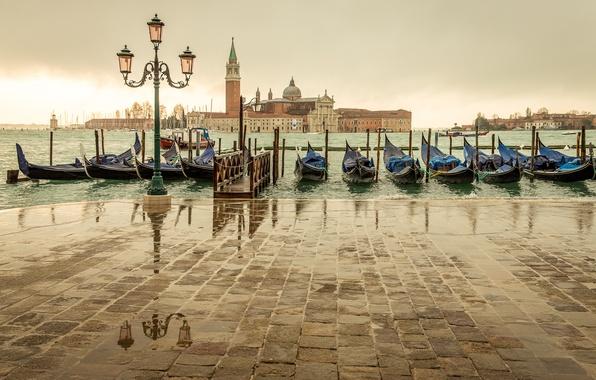 Picture sea, the city, overcast, island, Marina, Italy, lantern, Venice, Italy, gondola, Venice, San Giorgio Maggiore, …