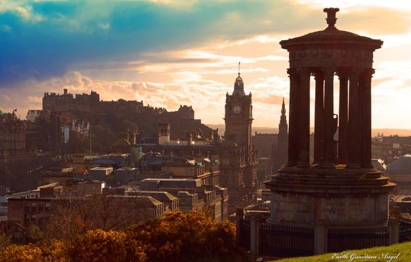 Picture the sky, the city, Scotland, Scotland, Edinburgh, Edinburgh
