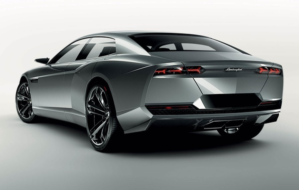 Picture tuning, concept, car, the concept, silver, Lamborghini, tuning, back, estate, lamborghini estoque