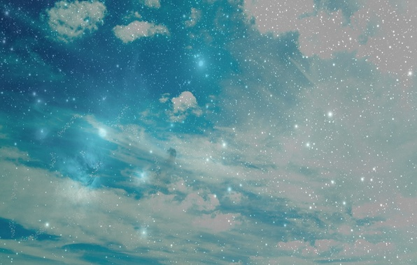 Picture the sky, stars, clouds, nature, sky, nature, 1920x1200, clouds, stars