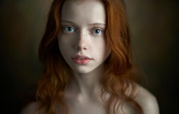 Picture portrait, the beauty, redhead, green-eyed, Alexander Vinogradov, Catherine Jasnogorodska